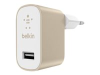Belkin MIXIT Home Charger - Adaptateur secteur - 2.4 A ( USB ) - or F8M731VFGLD